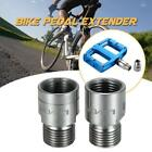 Lixada Left Right Bike Pedal Extenders 9/16 Inch Pedal Adapters Spacers F4B9