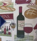 Elrene Bistro Cafe Wine Bread Vinyl Flannel Backed Tablecloth Assorted Sizes