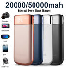 20000/50000mah LCD Power Bank 2 USB LED Backup Pack Battery Charger For Phones