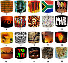 African Tribal Rustic Lampshades, Ideal To Match African Ladies Tribal Curtains.