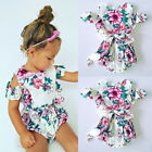 Fashion Kids Baby Girl Flower Off Shoulder Romper Jumpsuit Outfit Clothes Summer