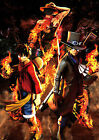 Poster A3 One Piece Lufy, Sabo und Ace Burning Blood 01