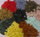 """Hand Dyed Tiny ¼"""" (6mm) Round BUTTONS, 2 Holes, Assorted Colors, Lots of 25/50"""