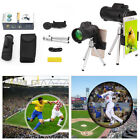 HD 40X60 Optical Zoom Clip-on Telescope Camera Lens +Tripod +Clip For Cell Phone