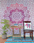 Indian tapestry hippie Twin mandala wall hanging Bohemian bedspread decor throw