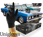 Box of 100 Heavy Duty Disposable Nitrile Gloves Mechanic Garage Auto Unigloves <br/> Commercial Strong Durable Chemical Resist good grip