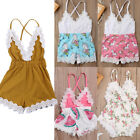 US Canis Newborn Baby Girl Lace Romper Jumpsuit Bodysuit Outfits Summer Clothes