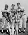BRAVES GREATS HANK AARON JOE ADCOCK EDDIE MATHEWS CLASSIC 8x10