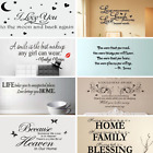 Removable Word Art Vinyl New Wall Stickers Mural Home Kitchen Room Decal Decor
