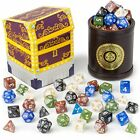 Cup of Plenty 5 Sets 7 Premium Pearlized Polyhedral Role Playing Gaming Dice for