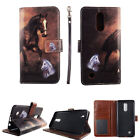 Folio Case Wallet For LG Rebel 2 LTE  Kickstand PU Leather ID Slot Cover