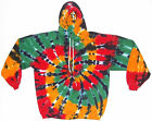 Adult TIE DYE Rasta Hoodie Sweatshirt hippie reggae Marley Small-3XL custom art