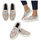 InterestPrint Custom Cute Welsh Corgi Slip On loafers Women's Canvas Flat Shoes