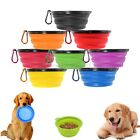 US Silicone Pet Dog Cat Food Water Collapsible Bowl Dish Fee