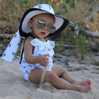 US Newborn Infant Baby Girl Romper Anchor Jumpsuit Outfit Sunsuit Ruffle Clothes