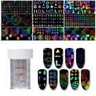 4*100cm Holographic Starry Sky Nail Foil Geometric Transfer Sticker DIY