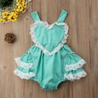 Newborn Baby Girl Floral Romper Bodysuit Jumpsuit Outfit Sunsuit Clothes Set US