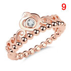 New Ladies Rose Gold Tiara Crown Ring Princess Crystal Inlay Alloy Crystal <br/> High Quality✔Gold✔Amazing Price✔UK Stock