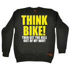 Cycling Sweatshirt Think Bike jumper top funny BirthdayáJUMPER