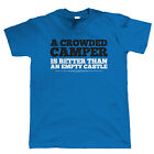 Crowded Camper, Mens Caravan T Shirt - Camping T3 T4 Gift Him Dad Fathers Day
