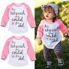 Toddler Kid Baby Boy Girl Cotton Long Sleeve T-shirt Tops Te