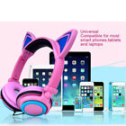 Kids Cute Led Ear Headphone Foldable Game Headset For Pc Laptop Computer Phone