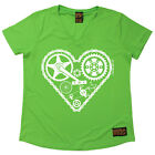 Ladies Cycling Cycle Heart Parts Breathable átee T SHIRT DRY FIT V NECK T-SHIRT