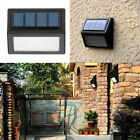 6 LED Solar Power Light Sensor Wall Light Garden Step Stair Deck Lights Lamp USA