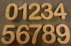 """Complete Set of Numbers 0-9,  Arial Rounded 5 to 7"""" inch number sign, wood"""