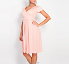 Pregnant Women Summer Comfy Maternity Dress Casual Loose V-Neck Pleated Dresses