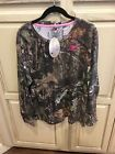 Ladies MOSSY OAK Break-Up Country Long Sleeve Ladies CAMO T-Shirt Pink Accent