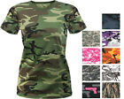 Womens Long Length Camo T-Shirt Military Army Ladies Girls Short Sleeve Tee