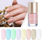 9ml NICOLE DIARY Oil Based Nail Polish Translucent Jelly Nail Art Varnish Decors