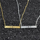 Gold Galaxy Astronomy Moon Phases Necklace Women Chain Long Bar Lunar Pendant 1x