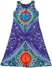 TIE DYE Women's Tank Top Dress Earth Sun hippie boho gypsy sm med lg xl 2X 3X