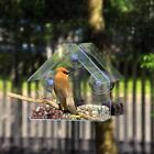 Window Bird Feeders Hot Sale Clear Glass Window Viewing Bird Feed Hotel Table Se
