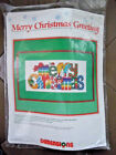 1989 DIMENSIONS MERRY CHISTMAS GREETING NEEDLEPOINT KIT - CHRIS DAVENPORT - 9061