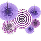 6x Tissue Paper Fan Flowers Happy Birthday Bunting Banner Garland Party Decor