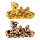 MagiDeal Antique Dragon Home Decorations Craft Gifts Table Top Decoration image