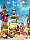 100480 American Airlines Travel San Francisco Decor WALL PRINT POSTER US
