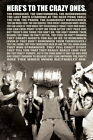 102841 Heres To The Crazy Ones College Party Beer Decor WALL PRINT POSTER CA