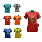 Unisex Printed T-Shirt Country Football Soccer Top T-Shirt