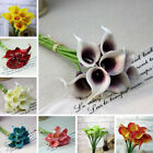 1/10 Head Artificial Calla Lily Flowers Bridal Bouquet Party Home Wedding Decor