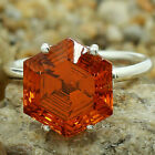 Padparadscha Sapphire Simulated 925 Silver Rings Jewelry Size 6-10 DGR1092_C