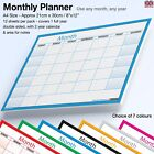 A4 MONTH PLANNER Wall / Desk Monthly Planner Calendar Double Sided Generic ✔BLUE