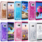 Внешний вид - Samsung Galaxy S8 Plus Liquid Glitter Quicksand Protective Shockproof Case Cover