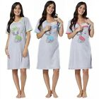 Happy Mama.Women's Maternity Nursing Nightdress Breastfeeding Shirt Gown.260p