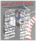 PAIR OF 9 REFLECTIVE CAR AFTERMARKET STICKERS SPONSOR DECALS STREET RACING JDM
