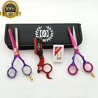 "6"" Salon Hair Scissors Set Barber Hair Cutting Shears Hairdressing Styling Kit $48.99 USD on eBay"