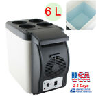 Portable 12V Electric Cooler Warmer Box Fridge Car Boat Travel Mini Fridge 6L US